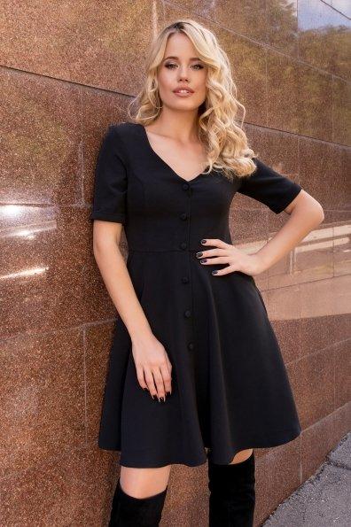 Стильное платья на пуговицах Фернанда 7848 Цвет: Черный