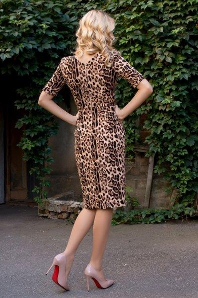 Платье леопардовый принт Тетрис 7914 Цвет: Леопард бежевый/черный