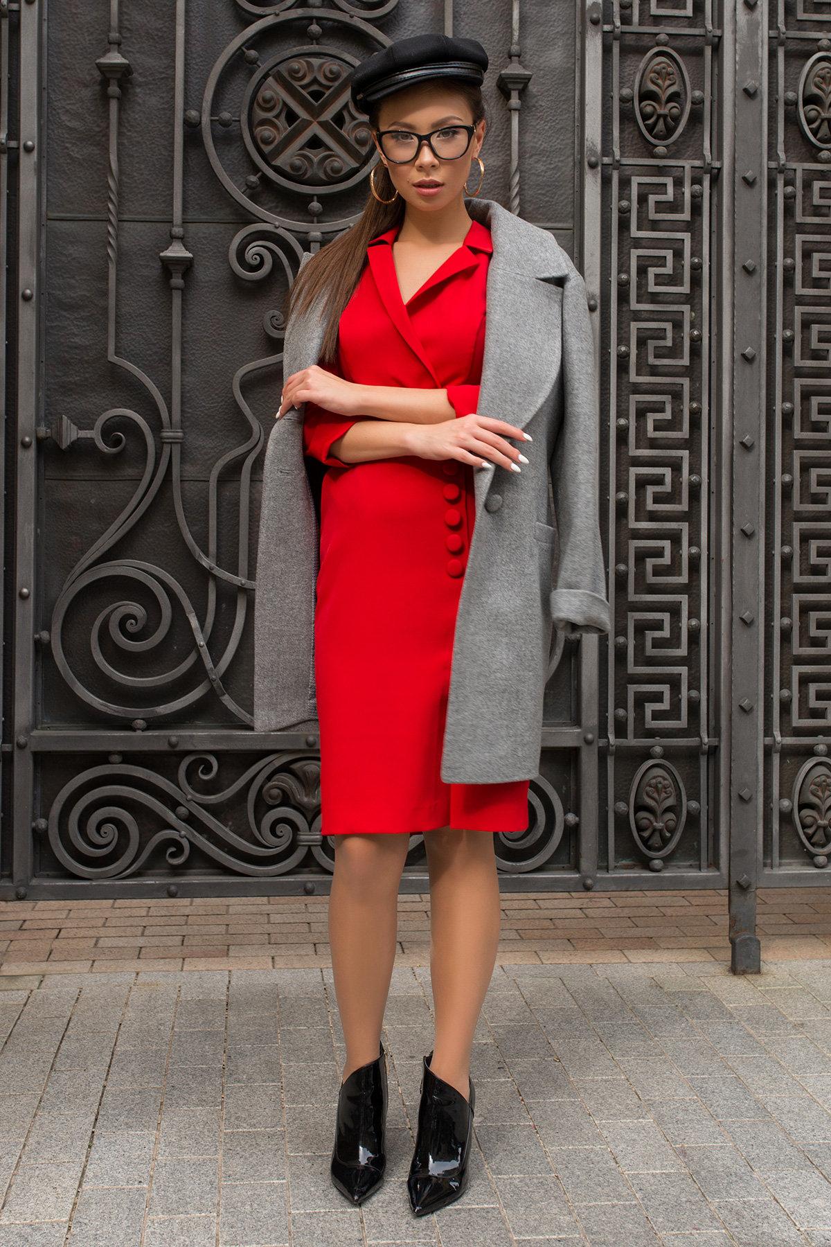 Элегантное платье Стрит 7833 АРТ. 43828 Цвет: Красный - фото 4, интернет магазин tm-modus.ru