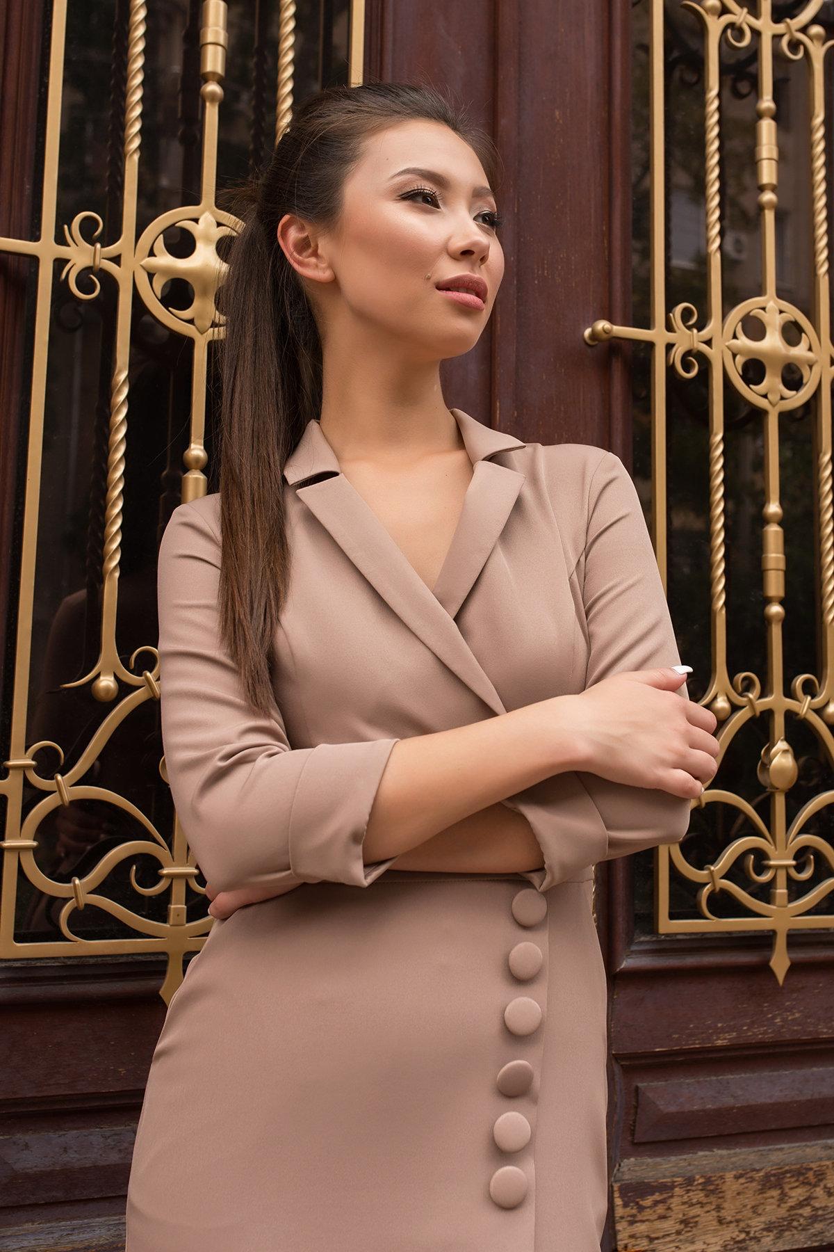 Элегантное платье Стрит 7833 Цвет: Бежевый Темный