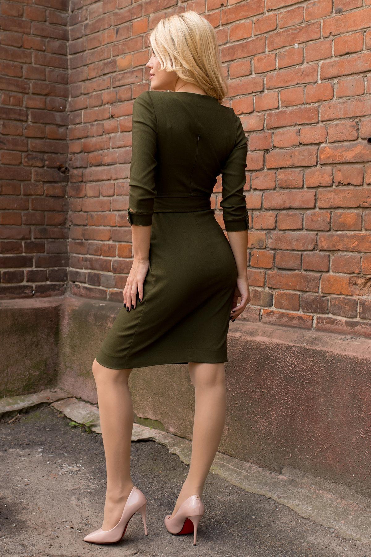 Платье-футляр Марсель 7656 АРТ. 43747 Цвет: Хаки - фото 3, интернет магазин tm-modus.ru