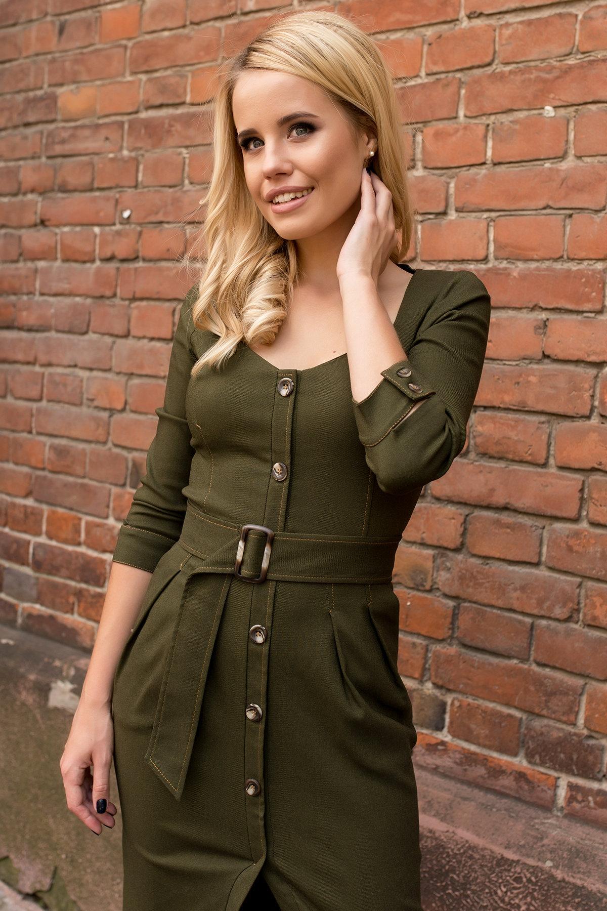 Платье-футляр Марсель 7656 АРТ. 43747 Цвет: Хаки - фото 5, интернет магазин tm-modus.ru