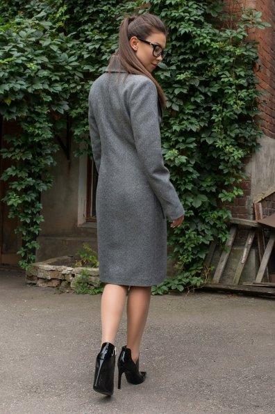 Удлиненное демисезонное пальто Габриэлла 7805 Цвет: Серый