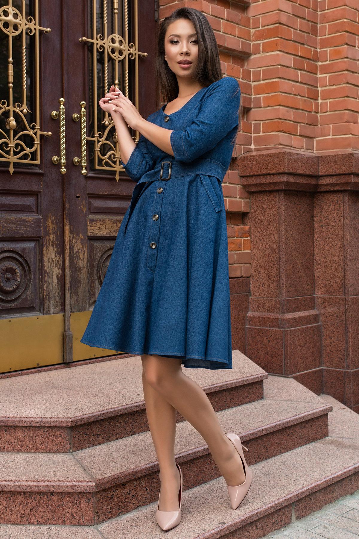 Платье оптом от производителя Modus Повседневное платье цвета джинс Лелли 7791