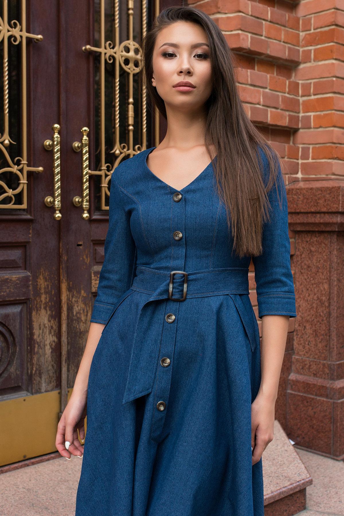 Повседневное платье цвета джинс Лелли 7791 АРТ. 43869 Цвет: Джинс - фото 3, интернет магазин tm-modus.ru