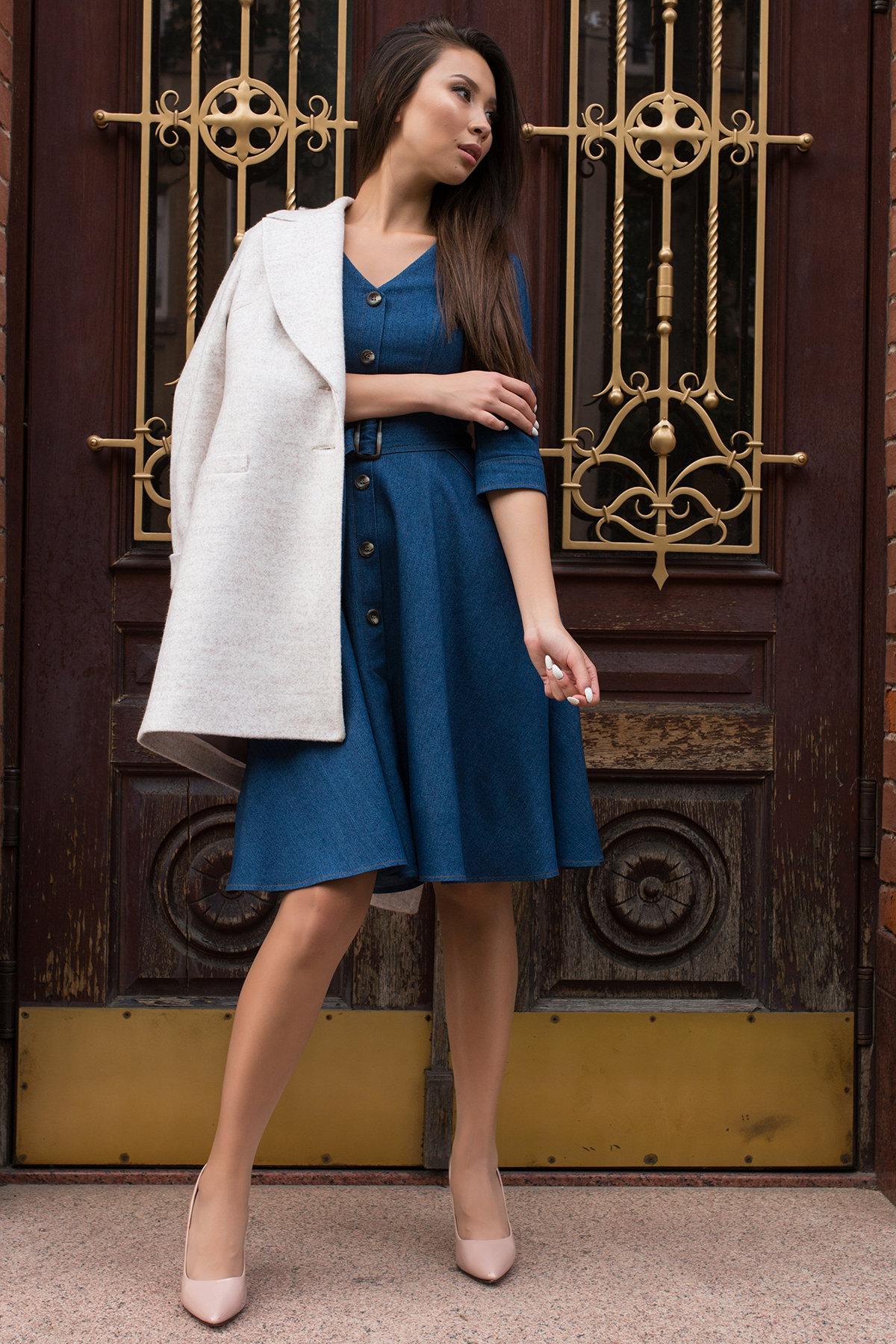 Повседневное платье цвета джинс Лелли 7791 АРТ. 43869 Цвет: Джинс - фото 4, интернет магазин tm-modus.ru
