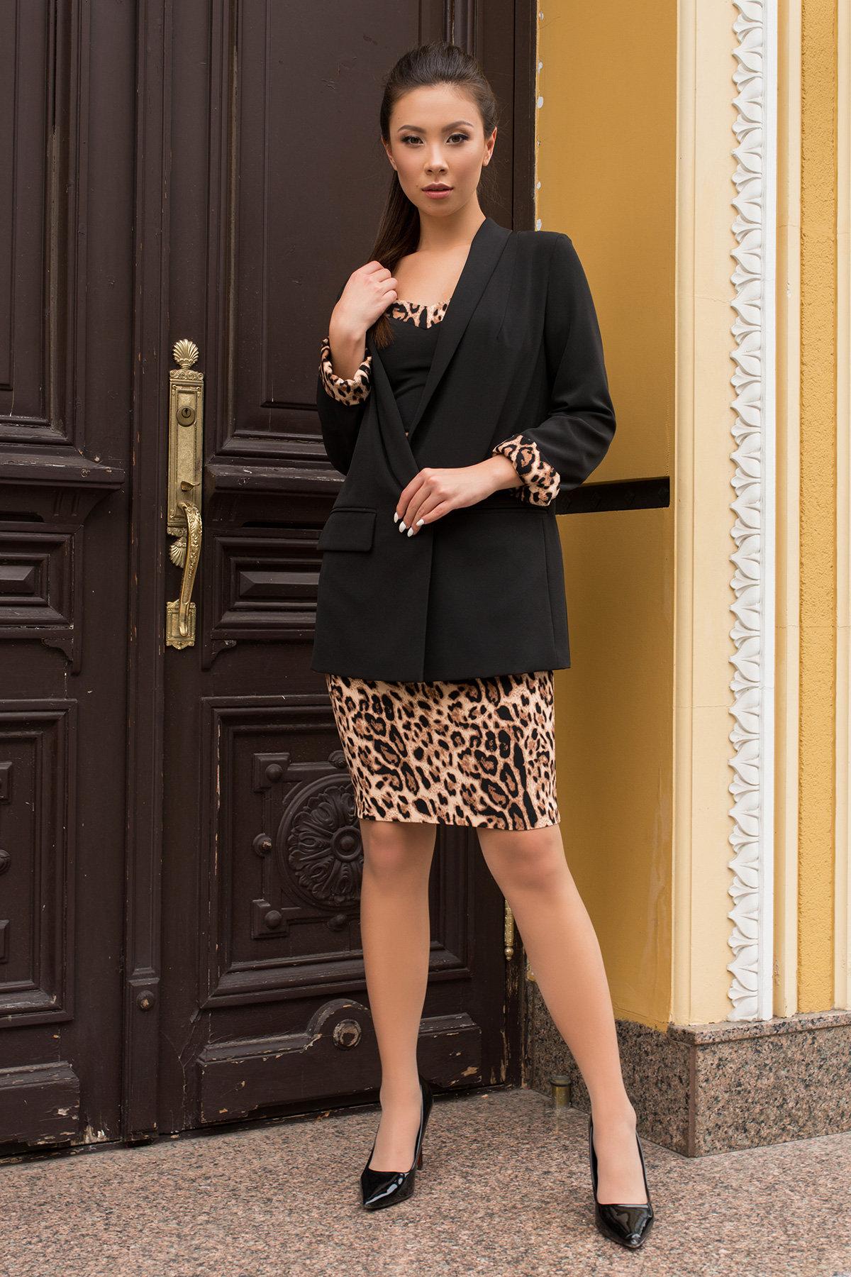 Костюм Лукка 7853 АРТ. 43756 Цвет: Черный/леопард - фото 5, интернет магазин tm-modus.ru