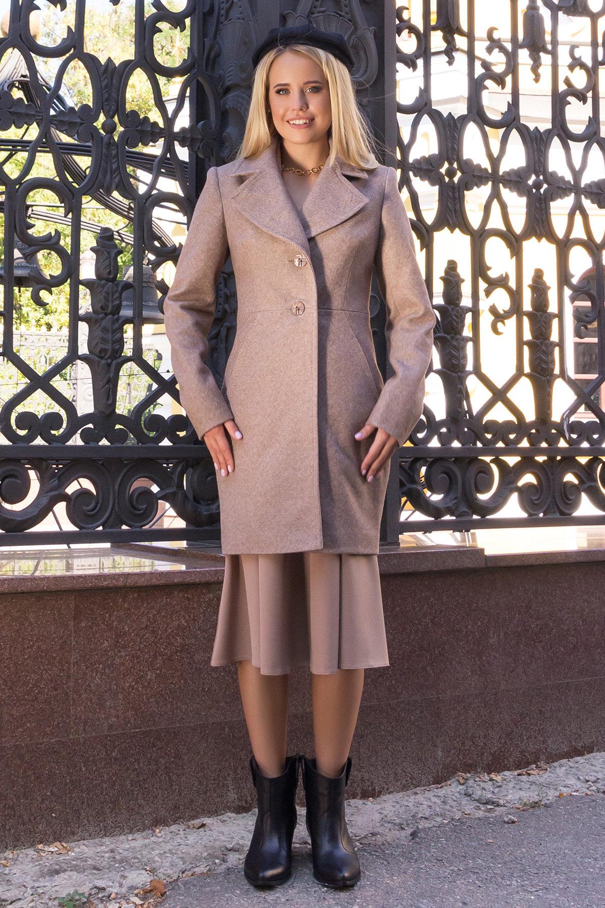 Пальто Камила 7901 АРТ. 43856 Цвет: Бежевый - фото 1, интернет магазин tm-modus.ru