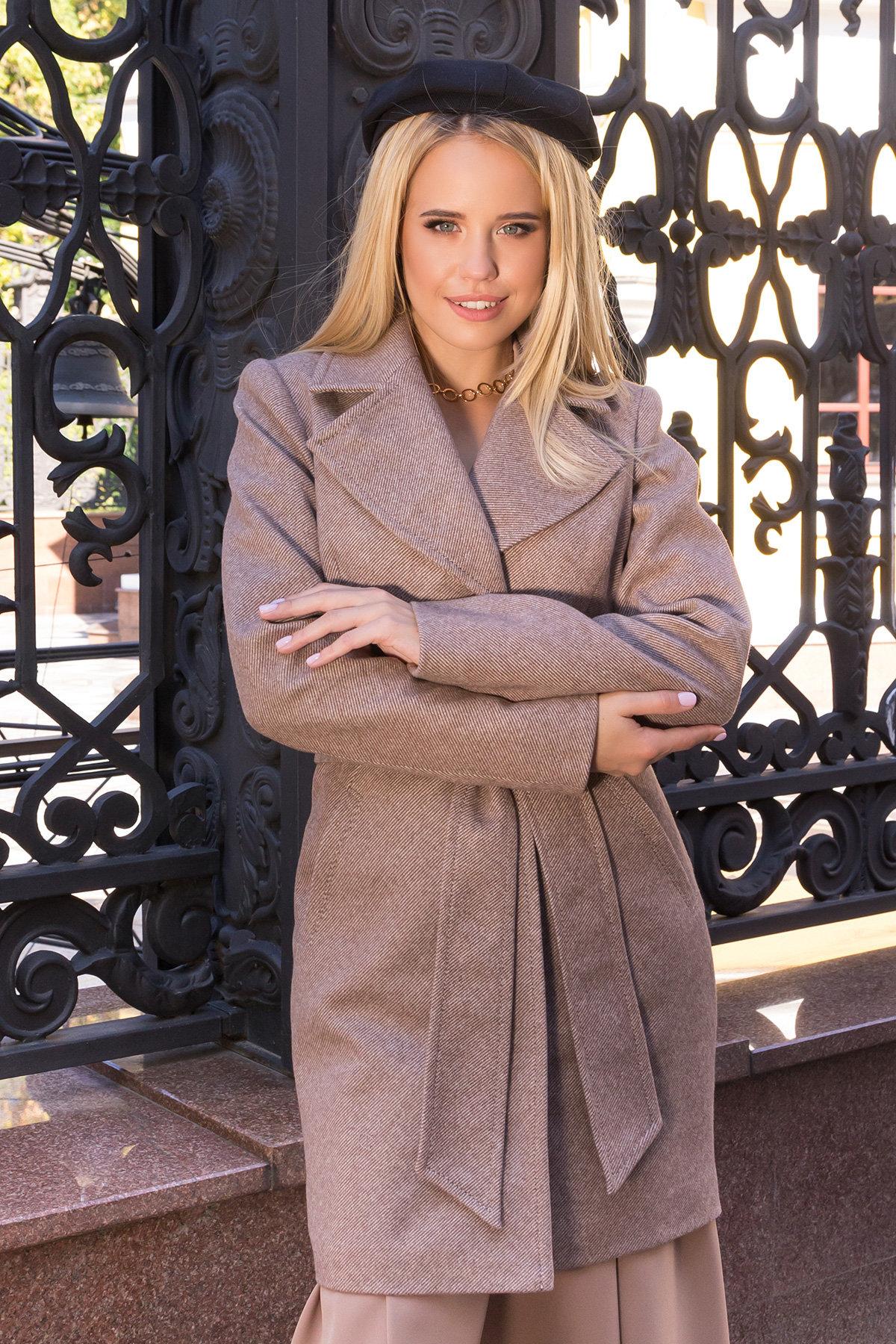 Пальто Камила 7901 АРТ. 43856 Цвет: Бежевый - фото 4, интернет магазин tm-modus.ru