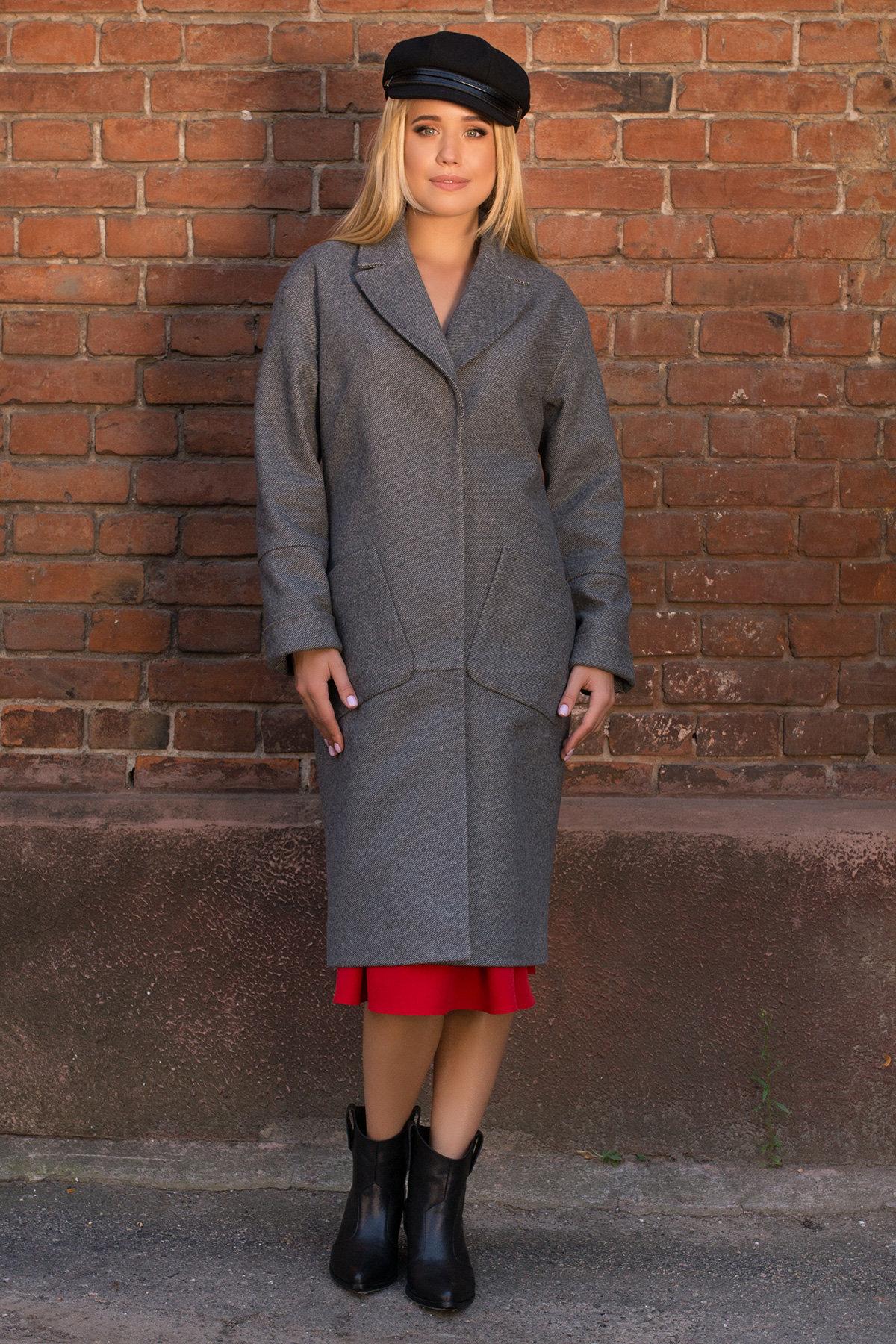 Пальто демисезонное миди Тала 7902 АРТ. 43858 Цвет: Серый - фото 2, интернет магазин tm-modus.ru