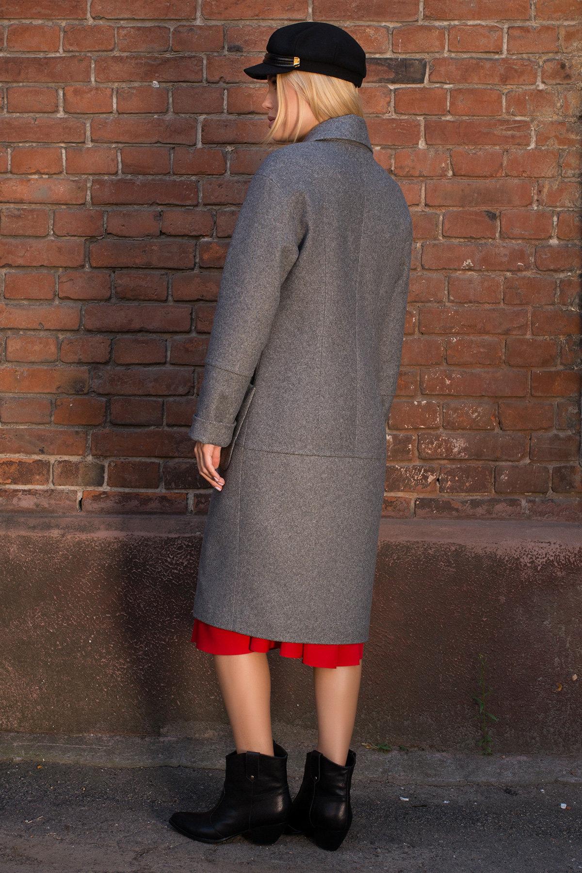 Пальто демисезонное миди Тала 7902 АРТ. 43858 Цвет: Серый - фото 3, интернет магазин tm-modus.ru