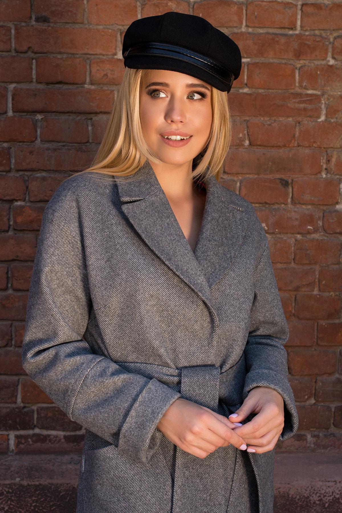 Пальто демисезонное миди Тала 7902 АРТ. 43858 Цвет: Серый - фото 5, интернет магазин tm-modus.ru