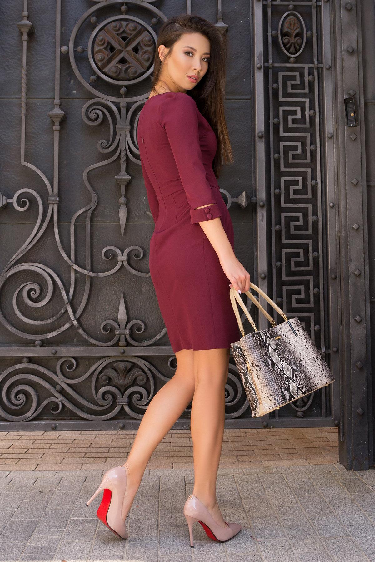 Платье-футляр Прованс 7871 Цвет: Винный