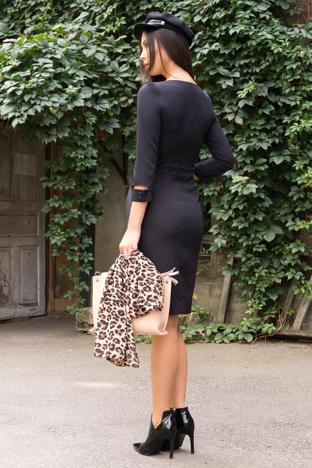 Платье-футляр Прованс 7871 АРТ. 43768 Цвет: Черный - фото 3, интернет магазин tm-modus.ru