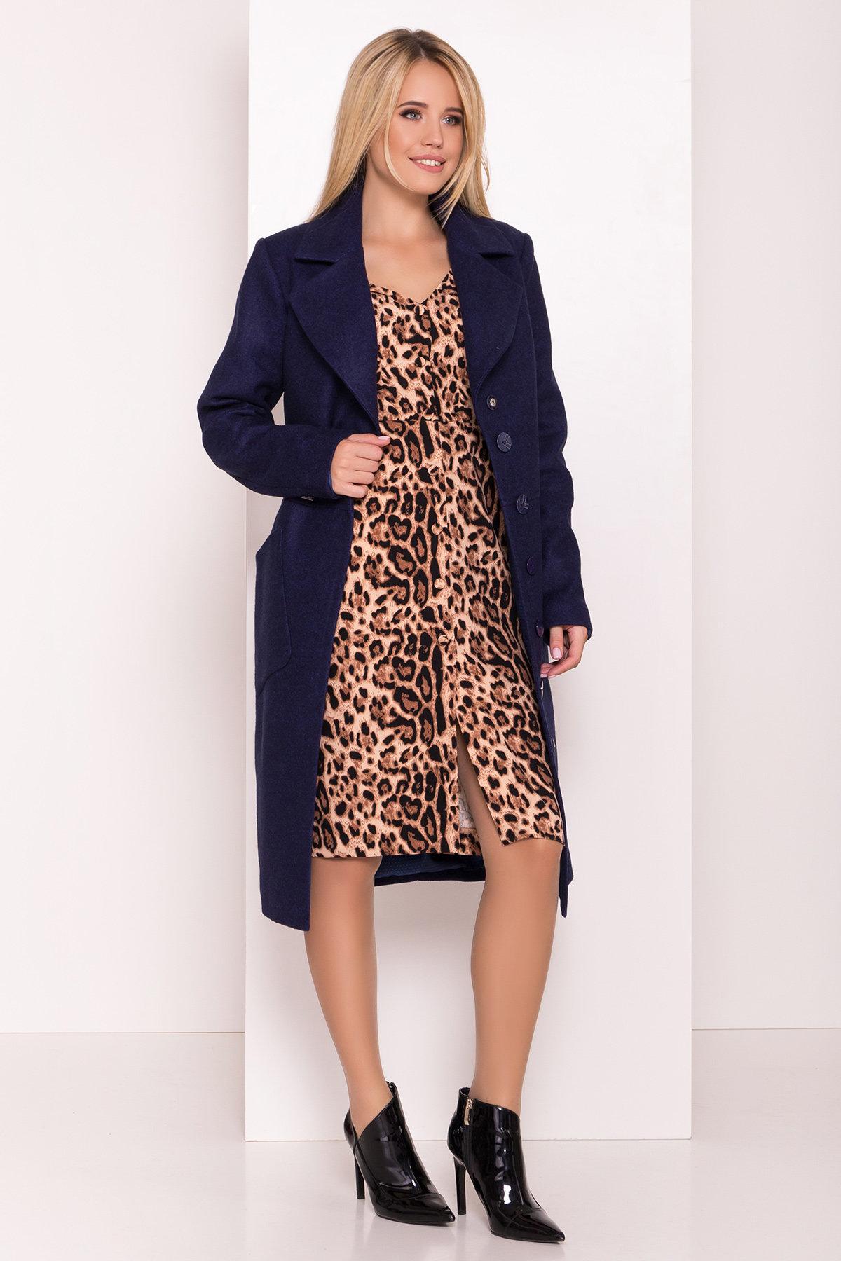 Классическое пальто Габриэлла 7872 АРТ. 43799 Цвет: Т.синий 17 - фото 1, интернет магазин tm-modus.ru