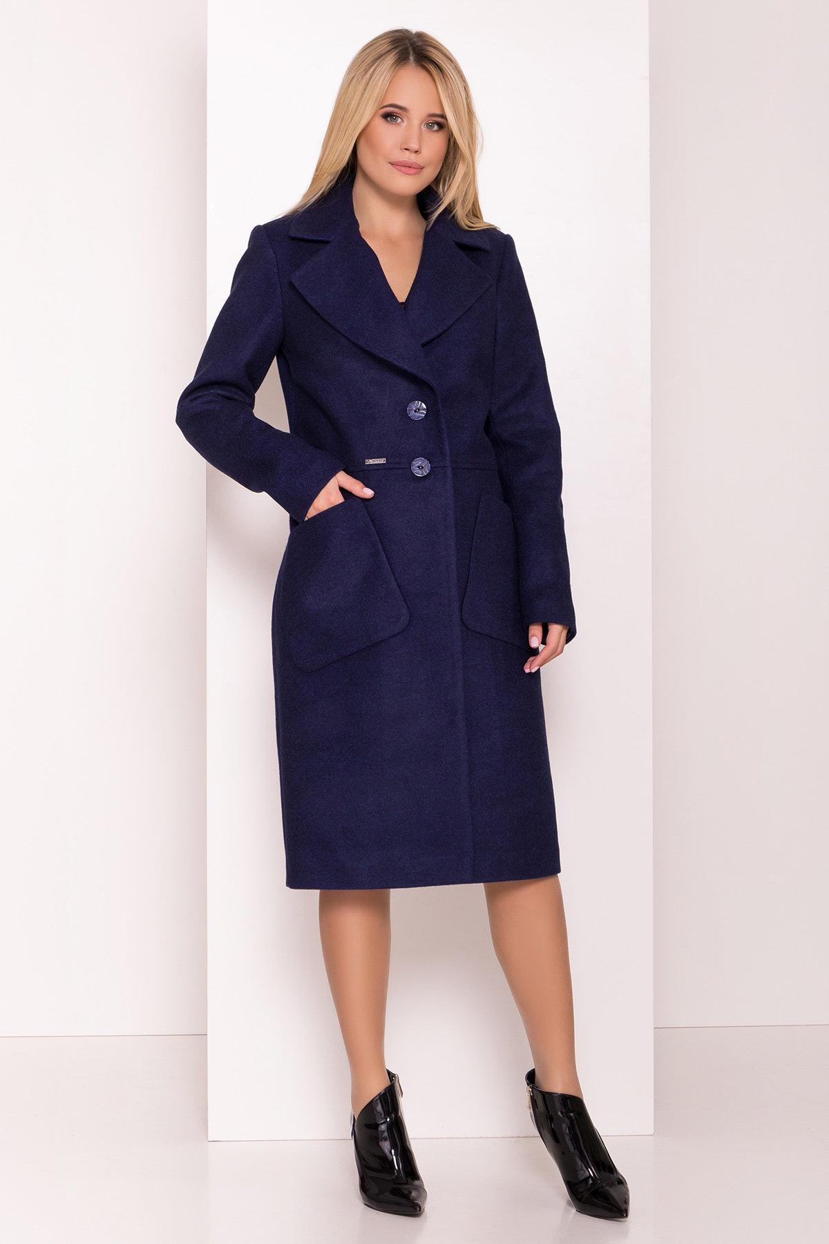 Классическое пальто Габриэлла 7872 АРТ. 43799 Цвет: Т.синий 17 - фото 2, интернет магазин tm-modus.ru