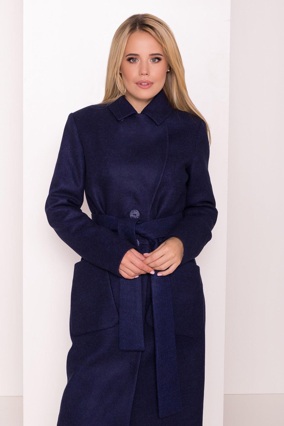 Классическое пальто Габриэлла 7872 Цвет: Т.синий 17