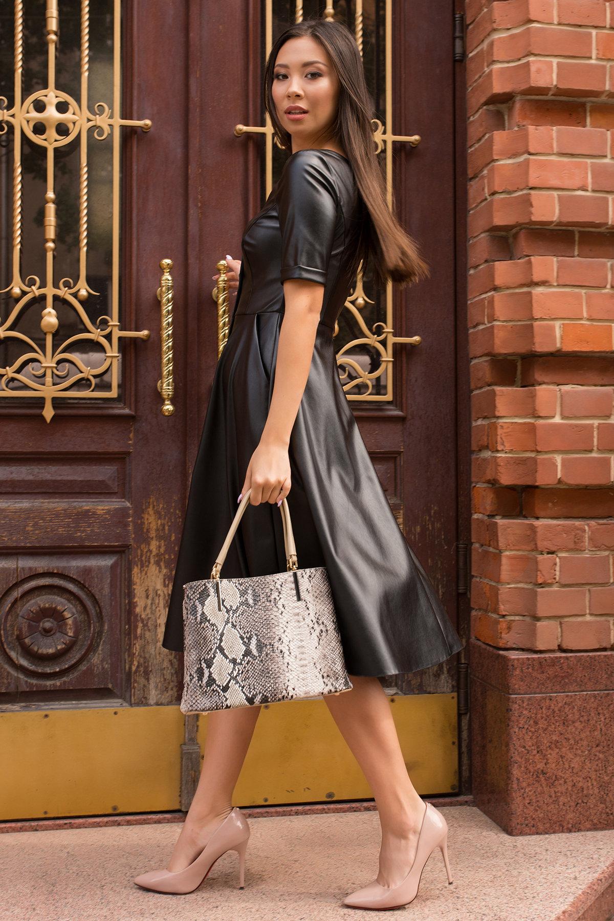 Платье длинной ниже колена Фернанда 7875 Цвет: Черный