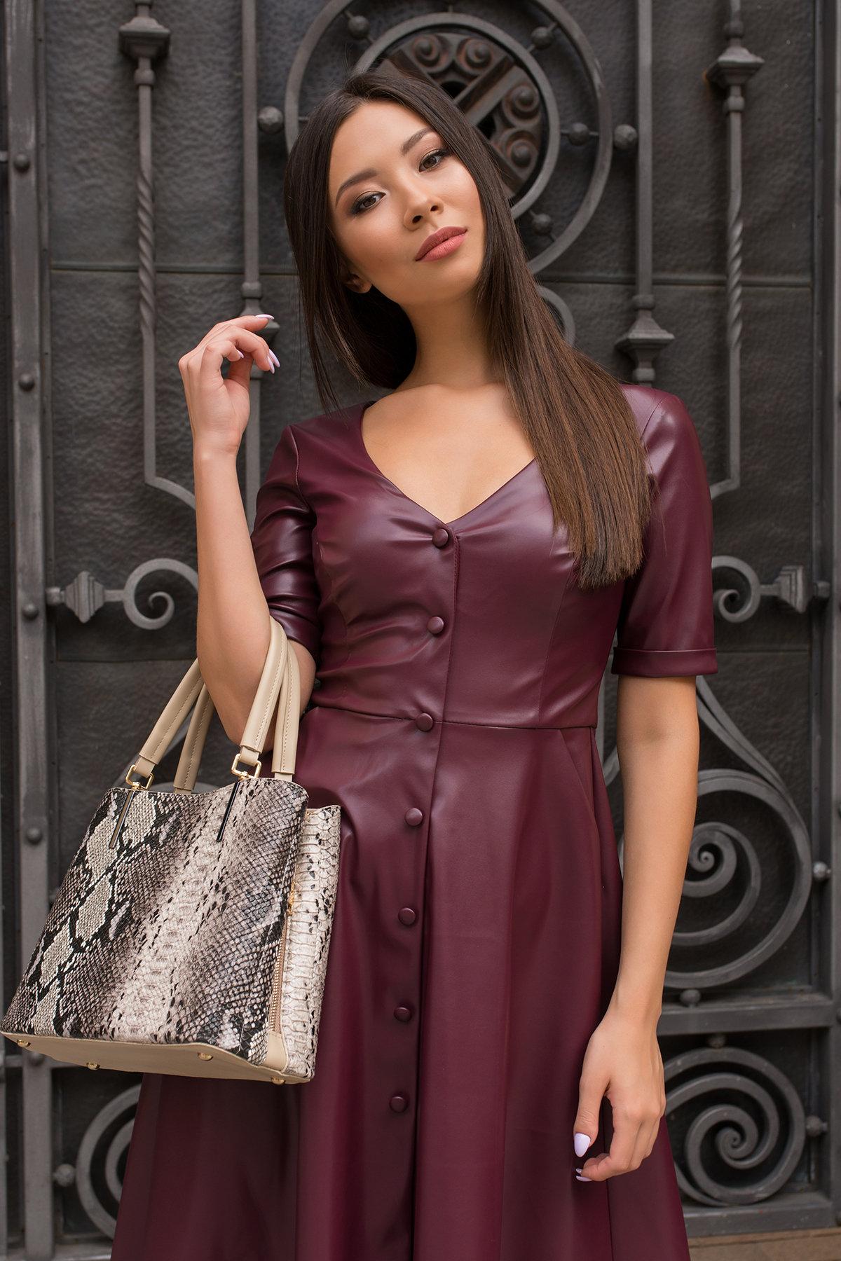 Платье длинной ниже колена Фернанда 7875 Цвет: Винный