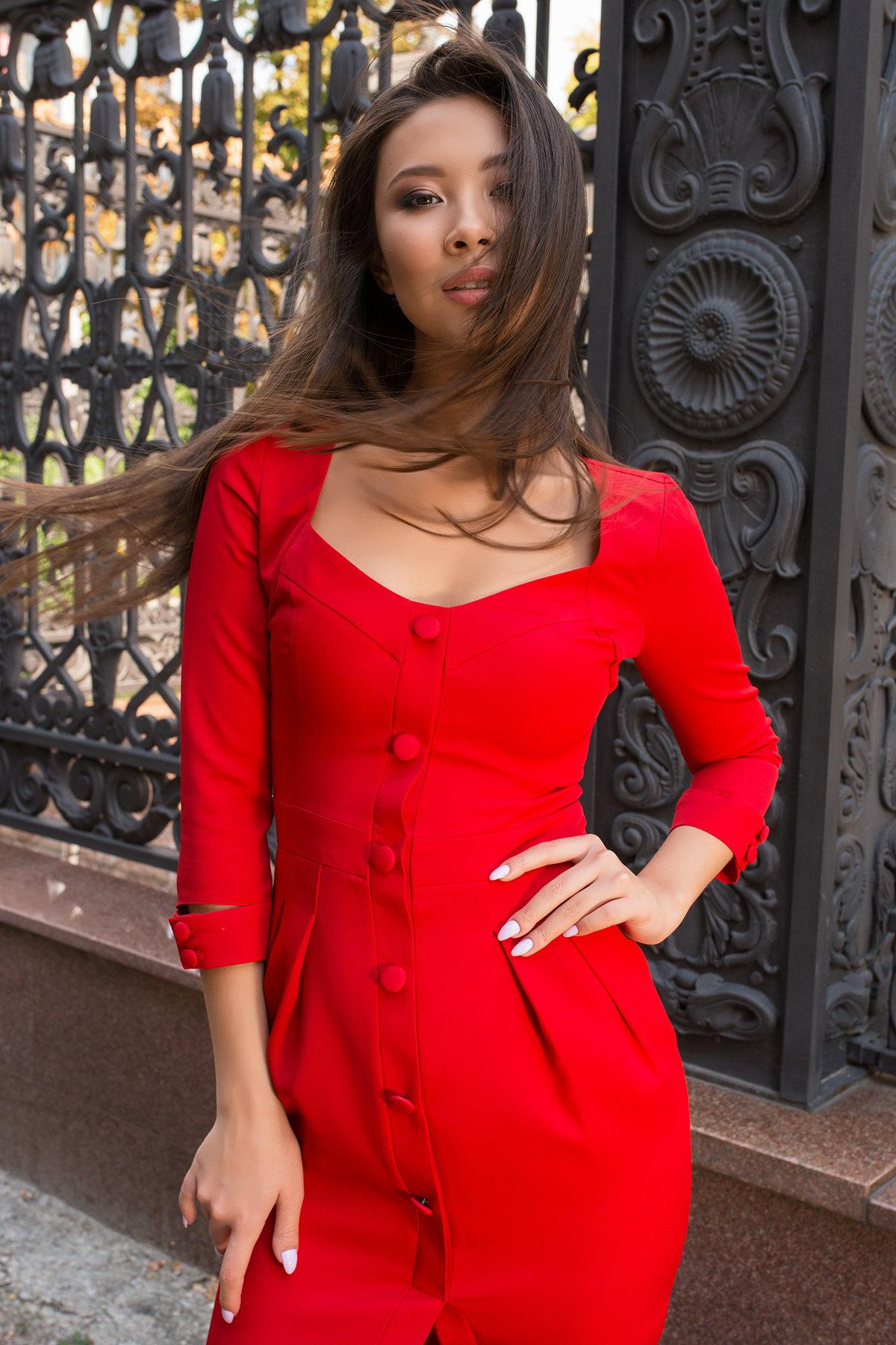 Платье-футляр Прованс 7871 АРТ. 43887 Цвет: Красный - фото 5, интернет магазин tm-modus.ru