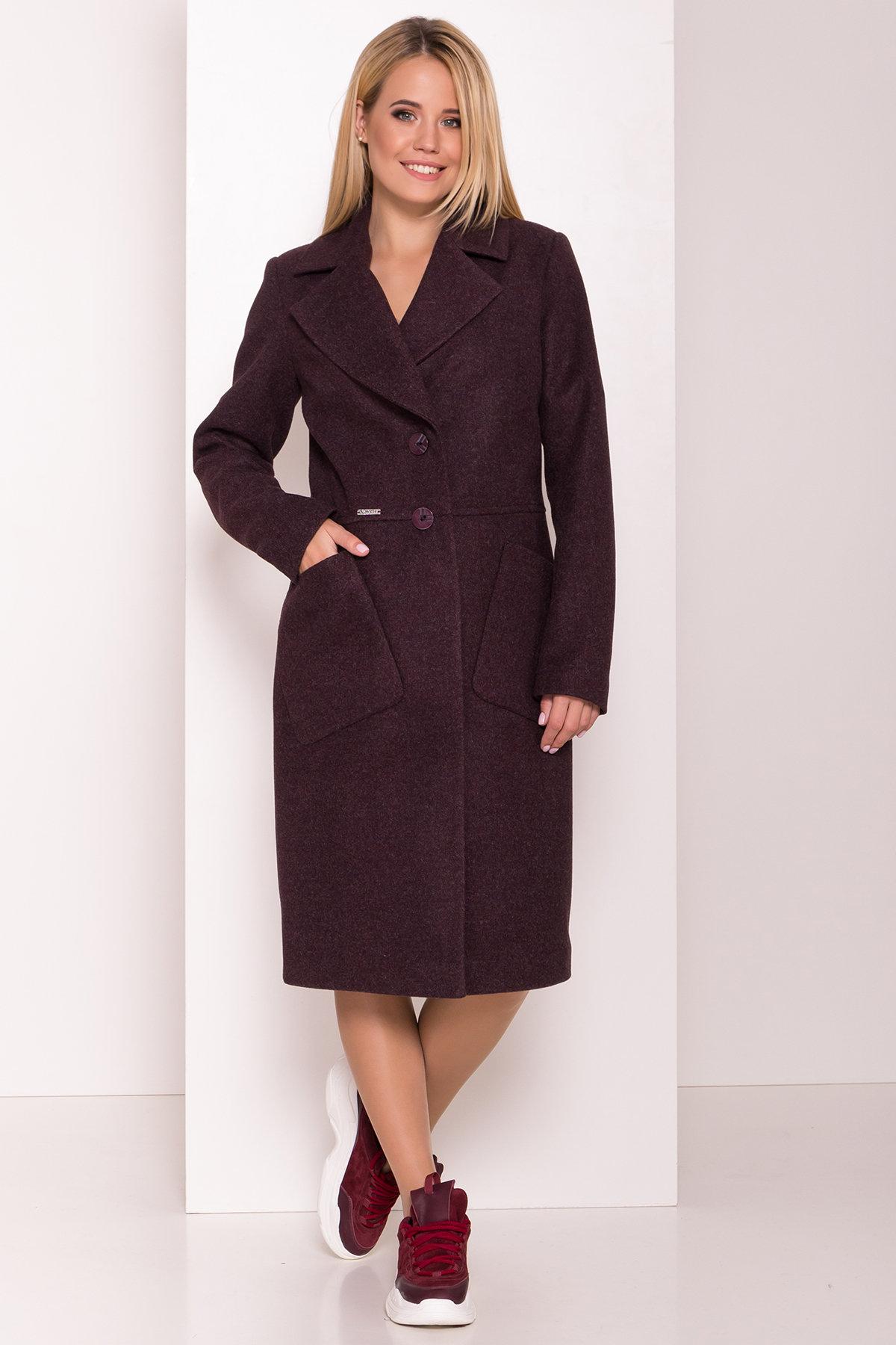Классическое пальто Габриэлла 7872 АРТ. 43798 Цвет: Марсала 5 - фото 3, интернет магазин tm-modus.ru