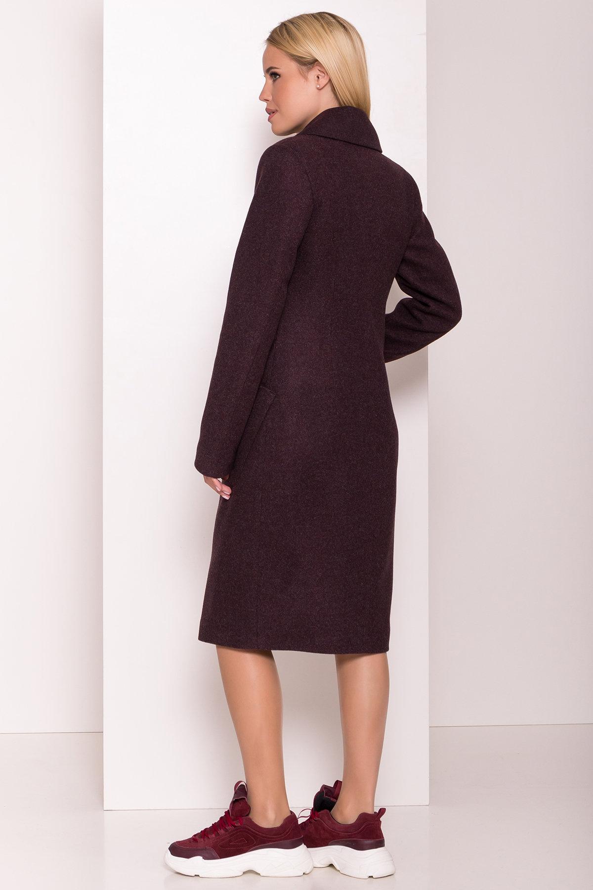 Классическое пальто Габриэлла 7872 АРТ. 43798 Цвет: Марсала 5 - фото 4, интернет магазин tm-modus.ru