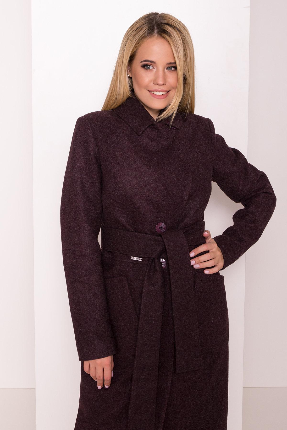 Классическое пальто Габриэлла 7872 АРТ. 43798 Цвет: Марсала 5 - фото 5, интернет магазин tm-modus.ru