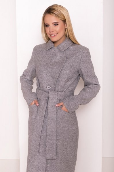 Классическое пальто Габриэлла 7874 Цвет: Серый Светлый 77