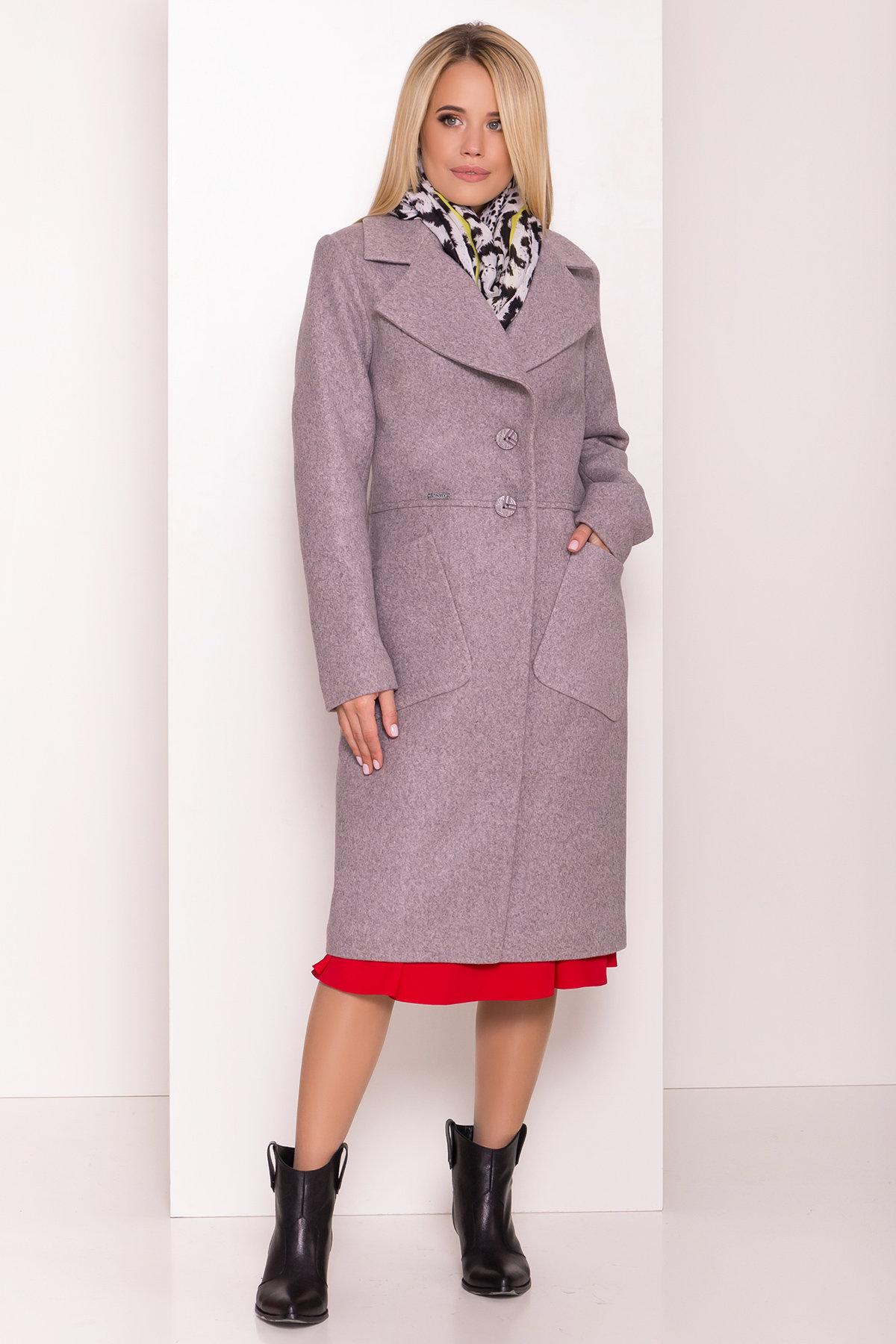 Классическое пальто Габриэлла 7874 Цвет: Серый/розовый 78