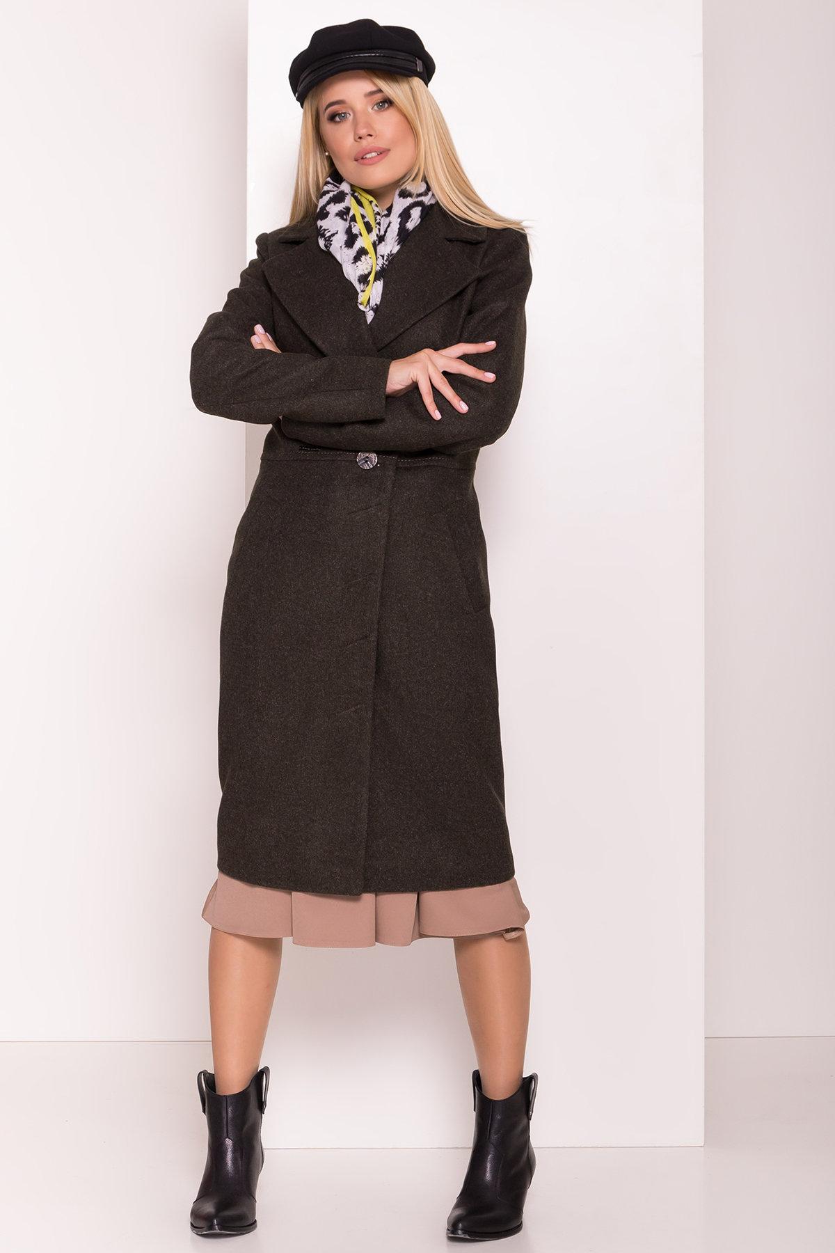 Пальто Габриэлла 7876 АРТ. 43820 Цвет: Хаки 16 - фото 4, интернет магазин tm-modus.ru