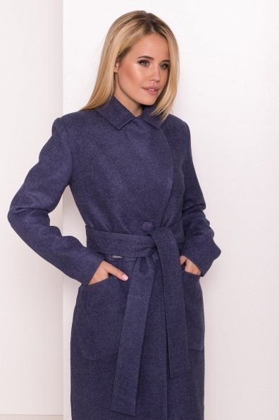 Классическое пальто Габриэлла 7872 Цвет: Джинс 57