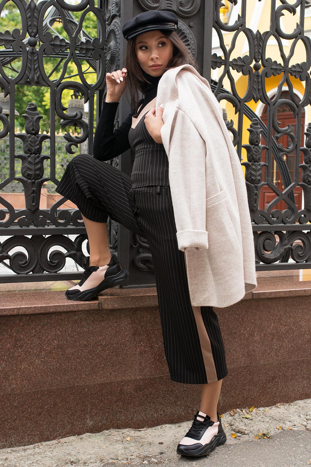 Костюм-тройка Канто 7920 АРТ. 43883 Цвет: Полоска тон чер-бел/т.беж - фото 12, интернет магазин tm-modus.ru