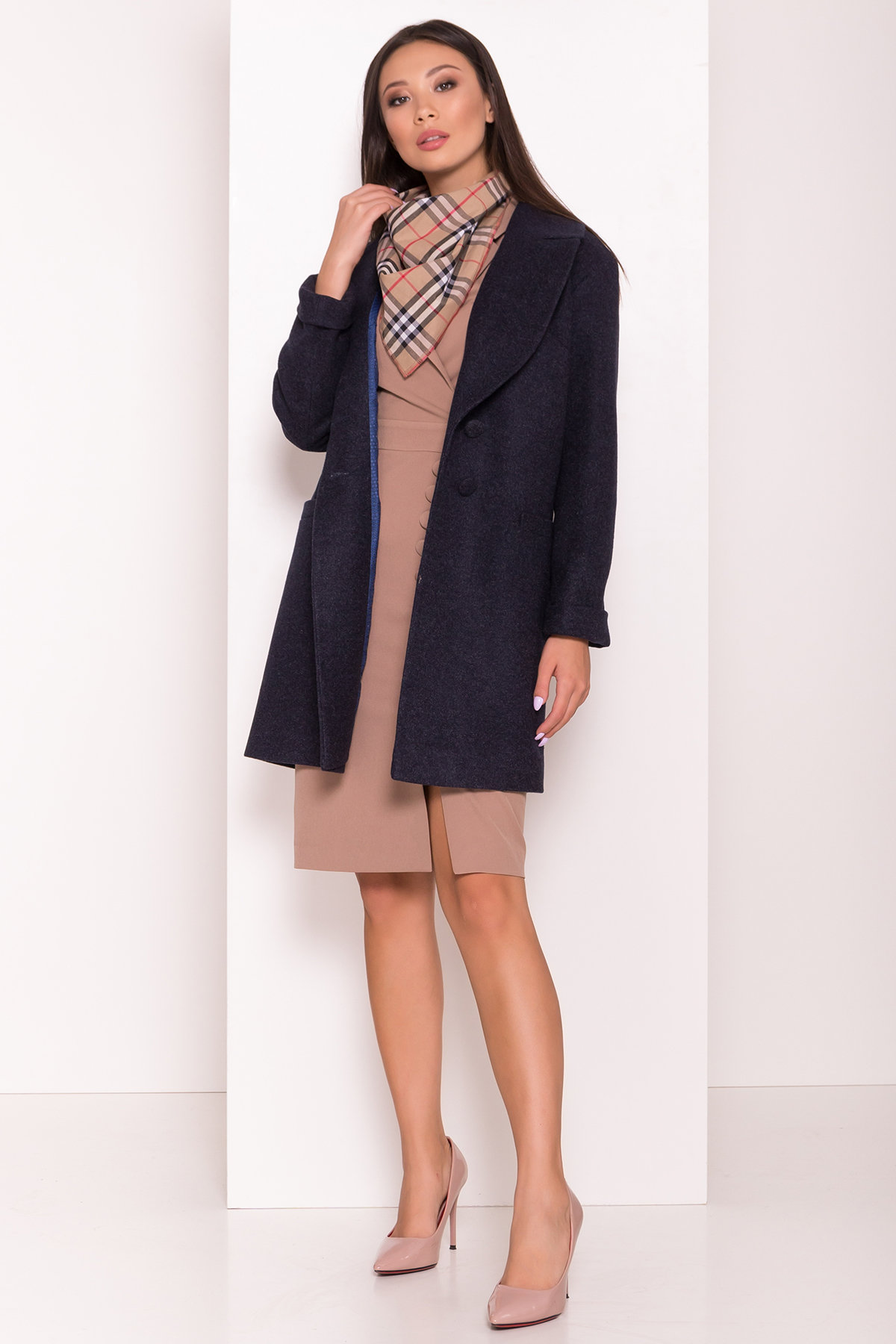 Пальто Вива 7868 АРТ. 43782 Цвет: Темно-синий 6 - фото 3, интернет магазин tm-modus.ru