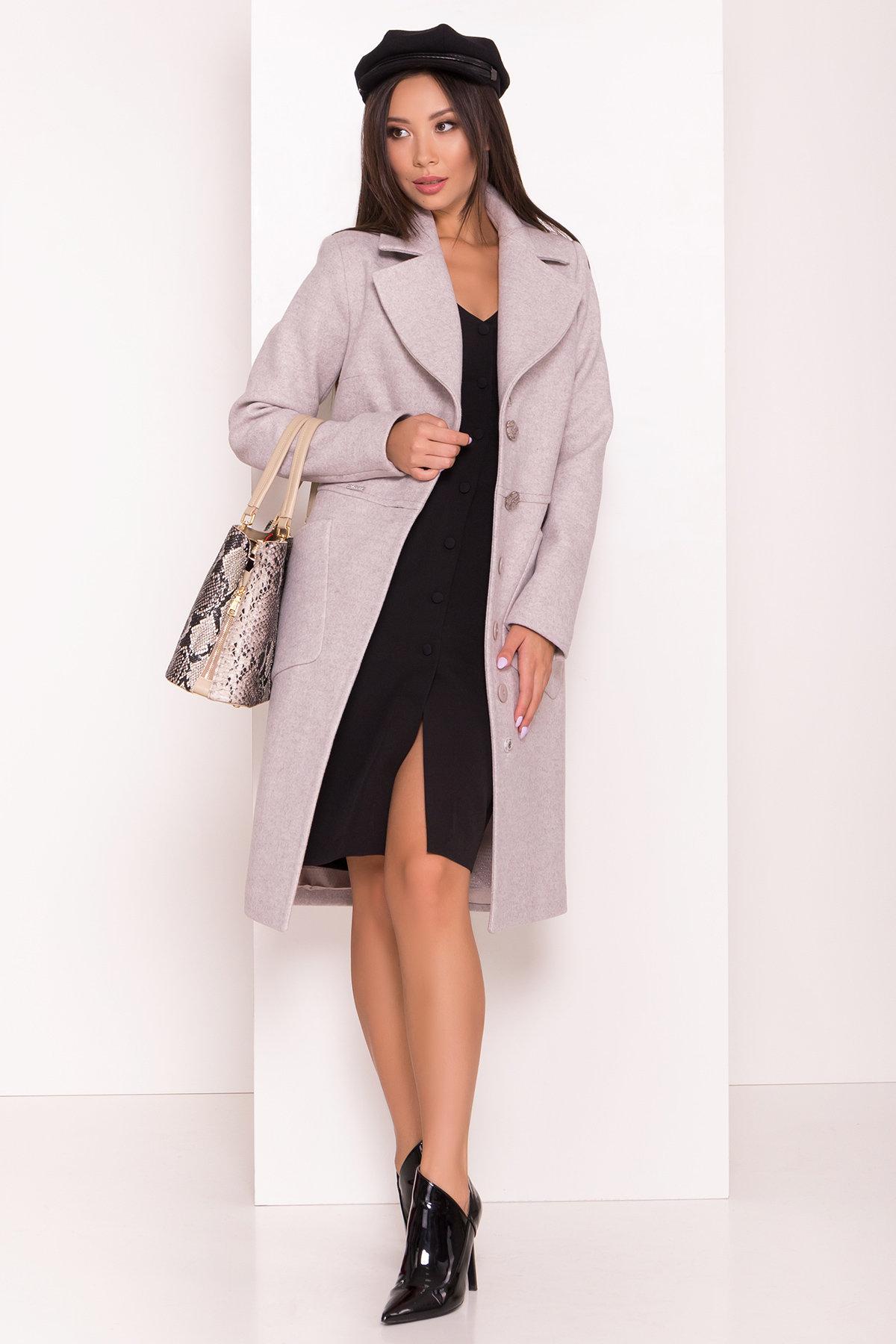 Классическое пальто Габриэлла 7872 АРТ. 43807 Цвет: Серо-бежевый 19 - фото 1, интернет магазин tm-modus.ru
