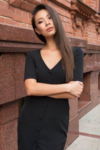 Деловое платье миди Тетрис 7917 Цвет: Черный