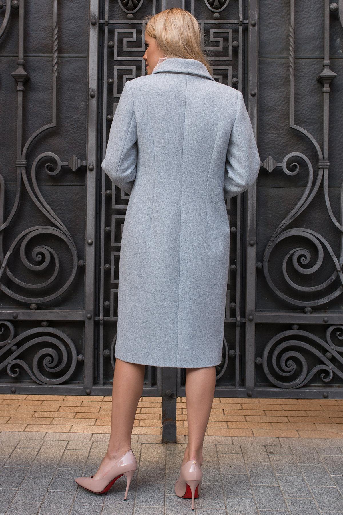 Демисезонное пальто ниже колена Кареро 7972 Цвет: Серый Светлый 33