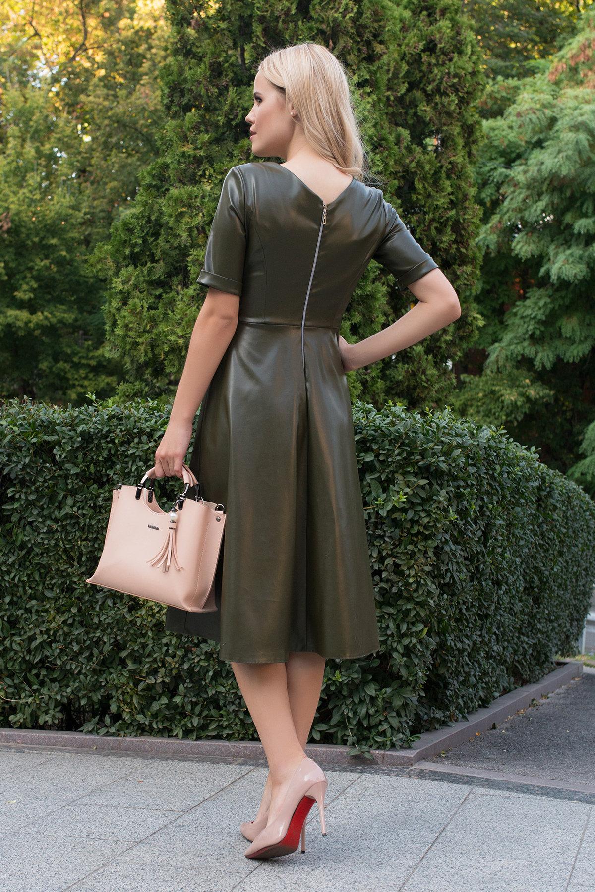 Платье длинной ниже колена Фернанда 7875 АРТ. 43845 Цвет: Хаки - фото 2, интернет магазин tm-modus.ru