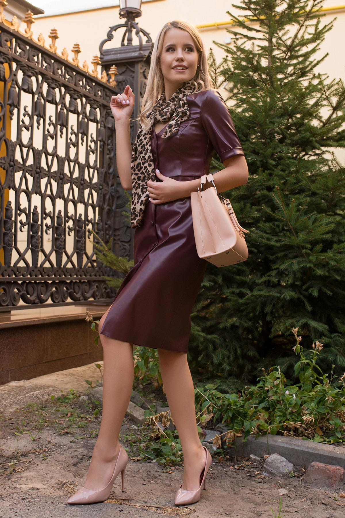 Купить платья в интернет магазине Платье из экокожи Тетрис 7847