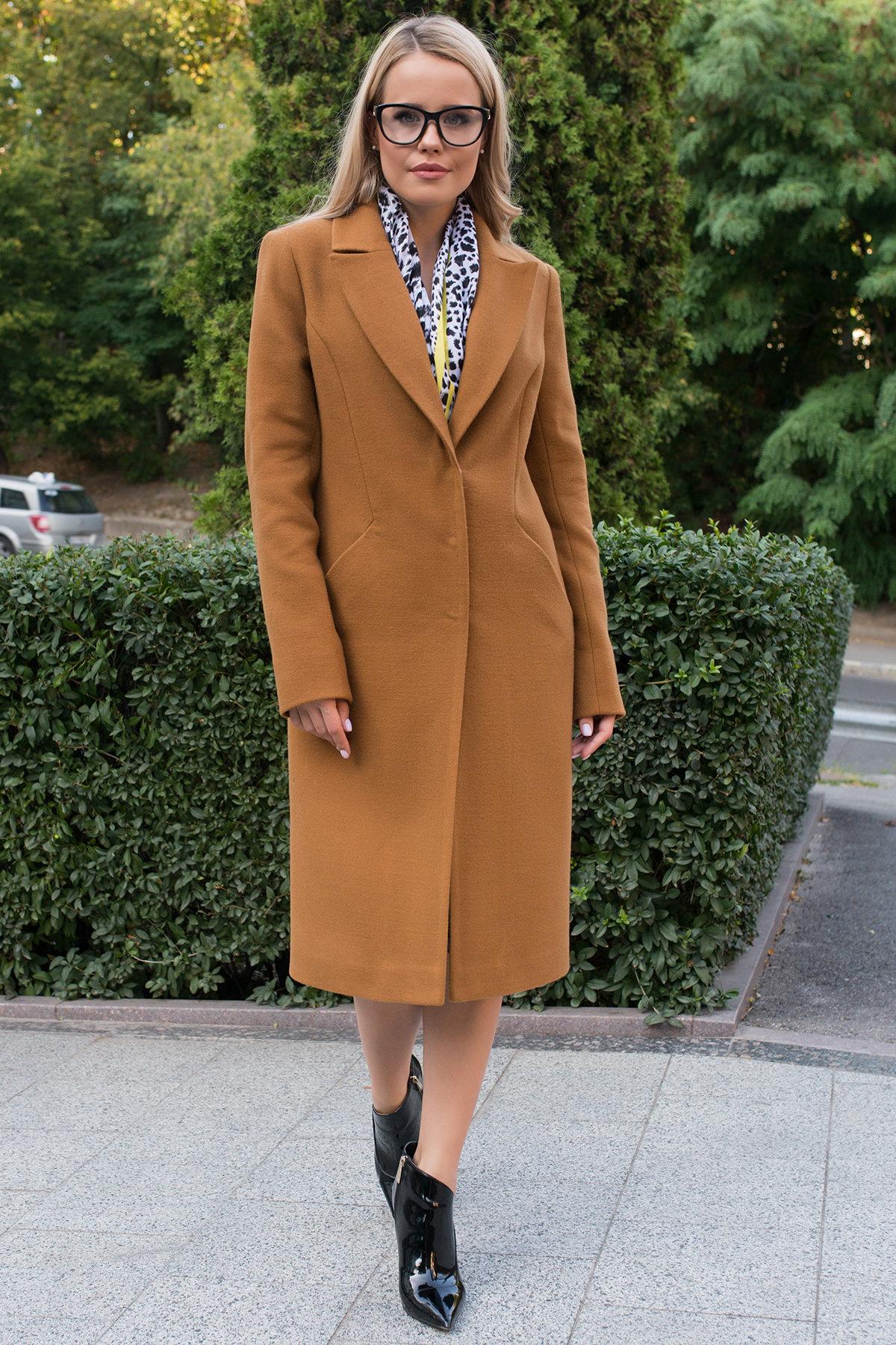 Пальто осенние Кареро 7968 АРТ. 43927 Цвет: Кемел - фото 3, интернет магазин tm-modus.ru