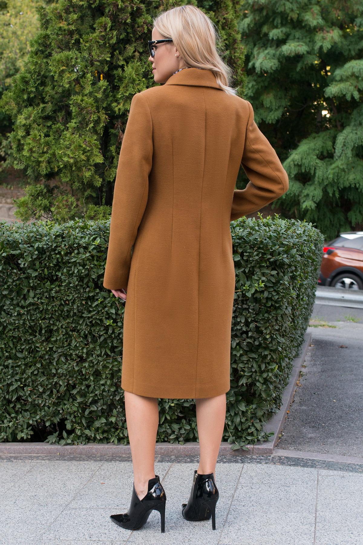 Пальто осенние Кареро 7968 АРТ. 43927 Цвет: Кемел - фото 4, интернет магазин tm-modus.ru