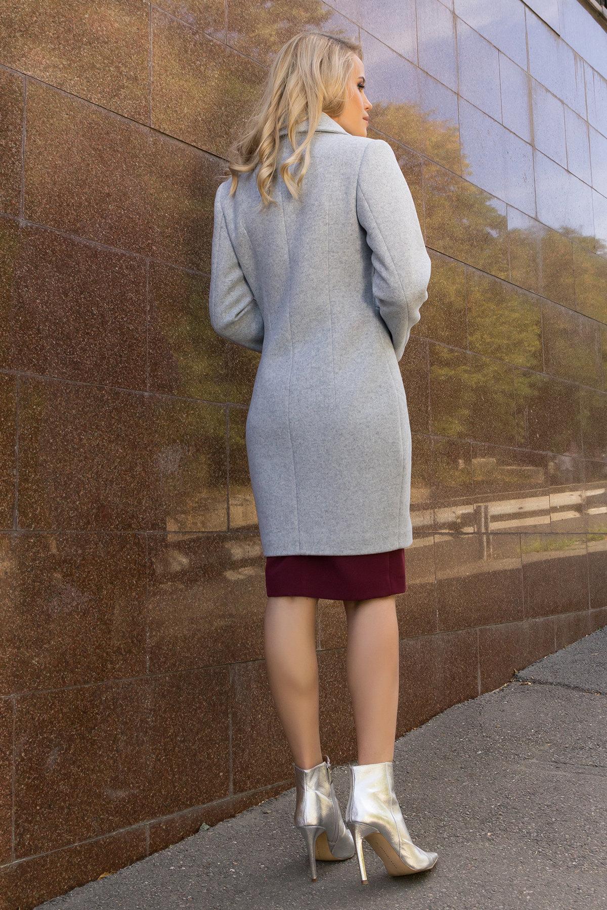 Демисезонное пальто с поясом Камила 7964 АРТ. 43920 Цвет: Серый Светлый 33 - фото 3, интернет магазин tm-modus.ru