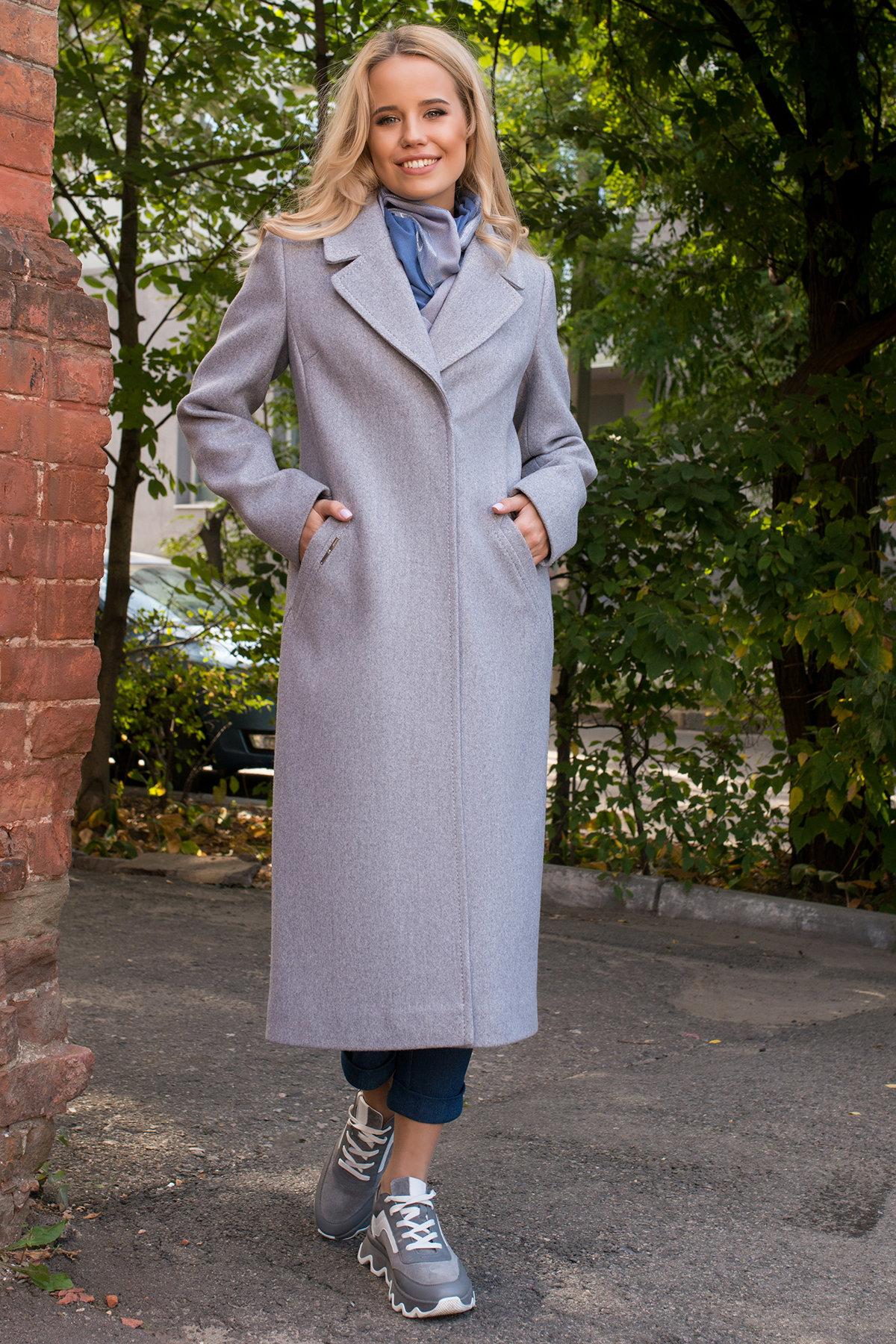 Демисезонное пальто удлиненное Миссури макси 6398 АРТ. 41317 Цвет: Серый 20 - фото 3, интернет магазин tm-modus.ru