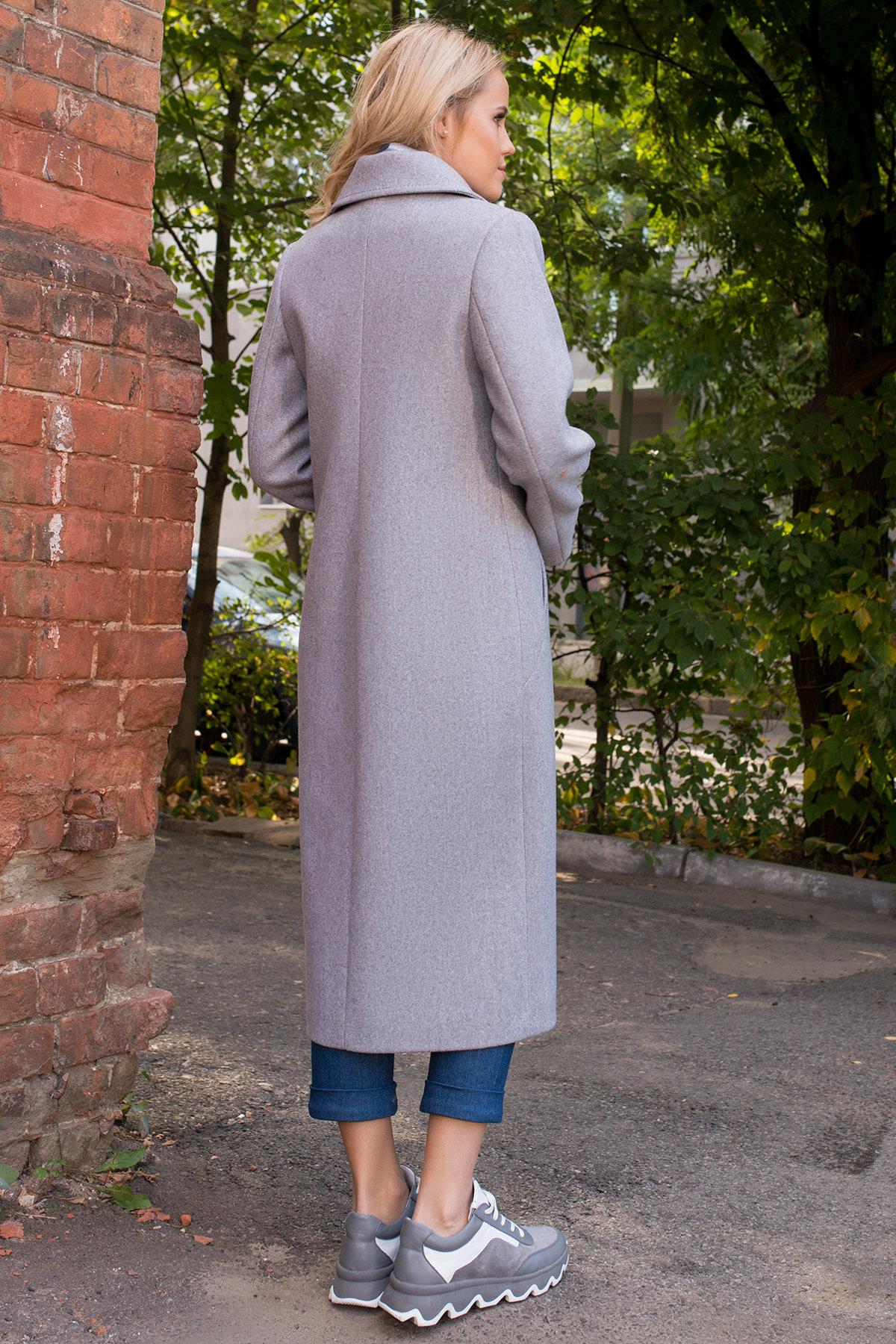 Демисезонное пальто удлиненное Миссури макси 6398 АРТ. 41317 Цвет: Серый 20 - фото 4, интернет магазин tm-modus.ru