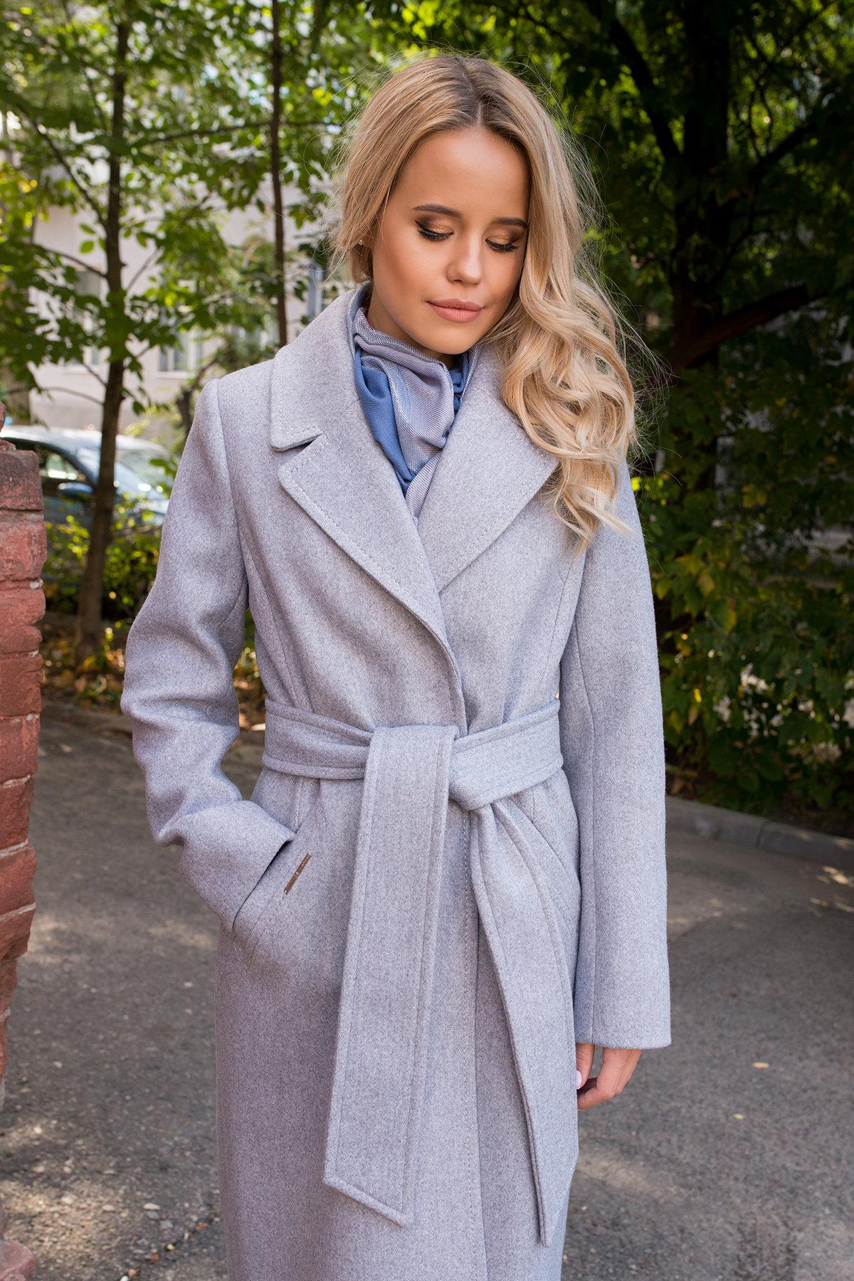 Демисезонное пальто удлиненное Миссури макси 6398 АРТ. 41317 Цвет: Серый 20 - фото 5, интернет магазин tm-modus.ru