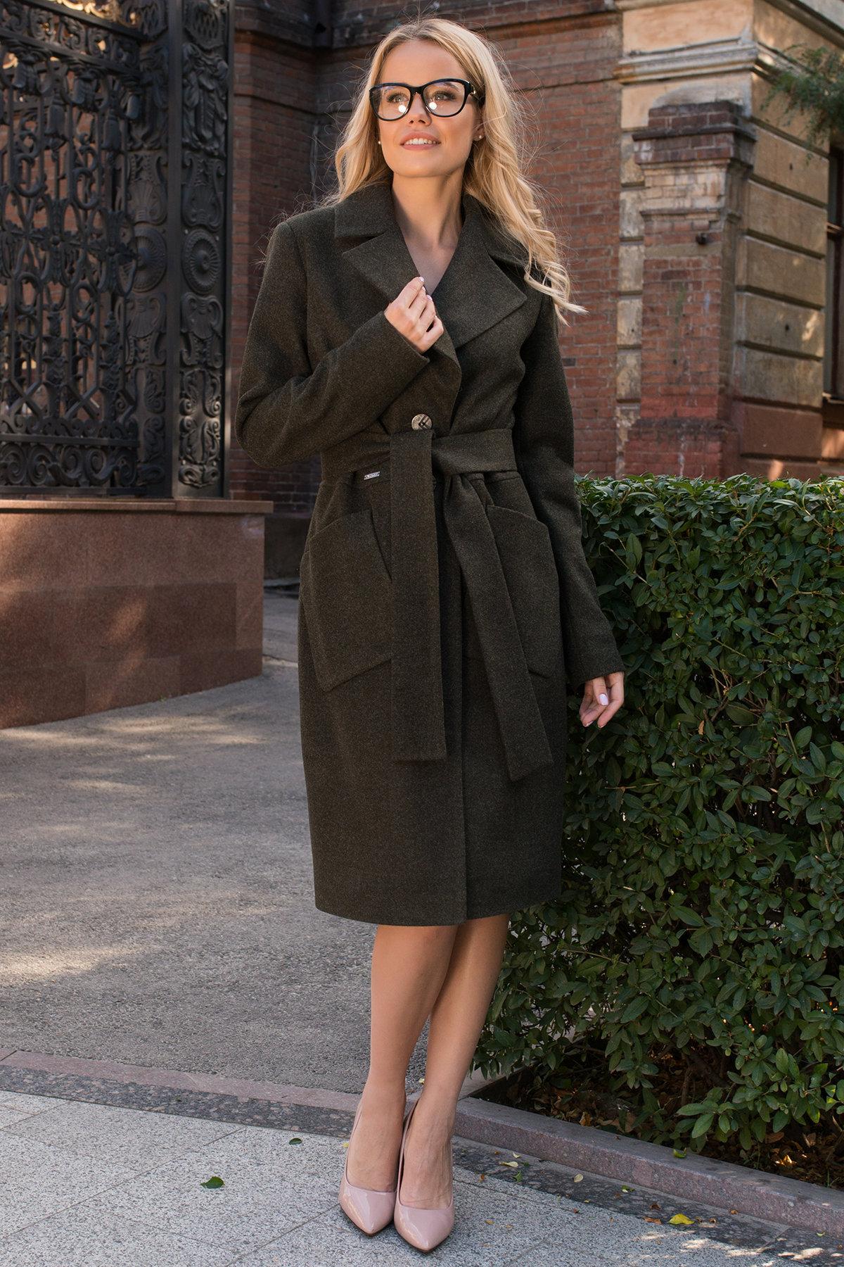 Классическое пальто Габриэлла 7872 Цвет: Хаки 16