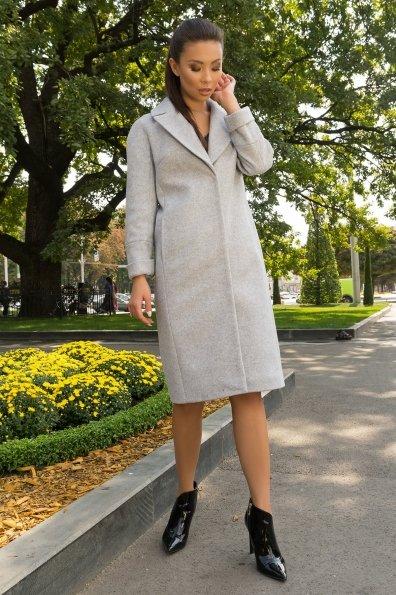Демисезонное пальто длиной ниже колена Фради 7978 Цвет: Серый светлый 33