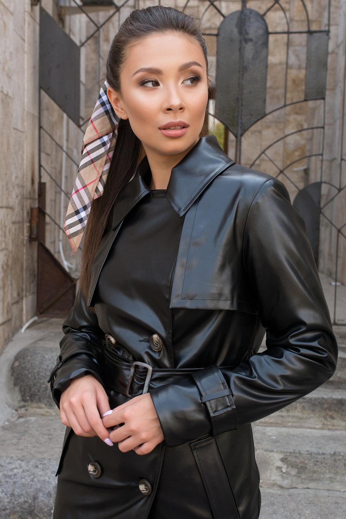 Пальто-тренч из экокожи Аккорд 7996 АРТ. 43950 Цвет: Черный - фото 6, интернет магазин tm-modus.ru