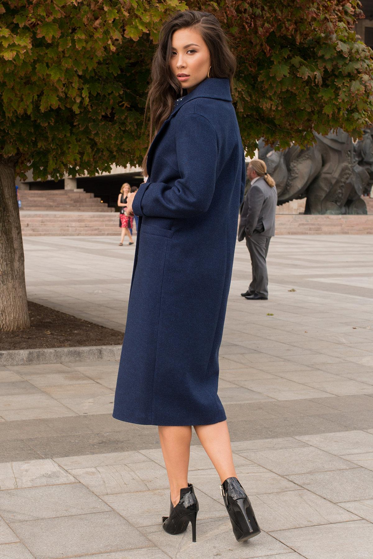 Демисезонное пальто с прорезными карманами Вива 6378 АРТ. 41258 Цвет: Т.синий 17 - фото 4, интернет магазин tm-modus.ru