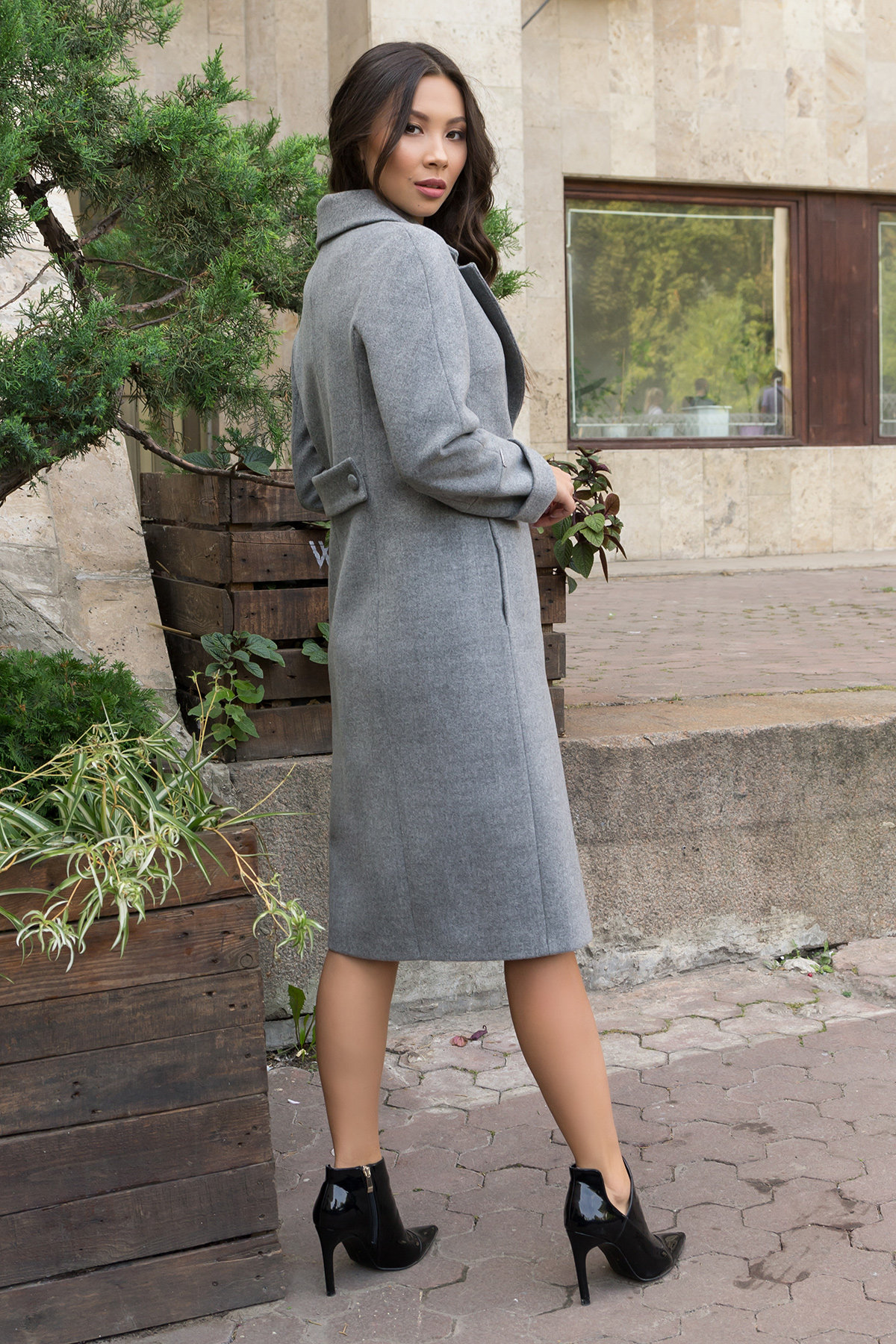 Осенние пальто Фради 7937 Цвет: Серый 18