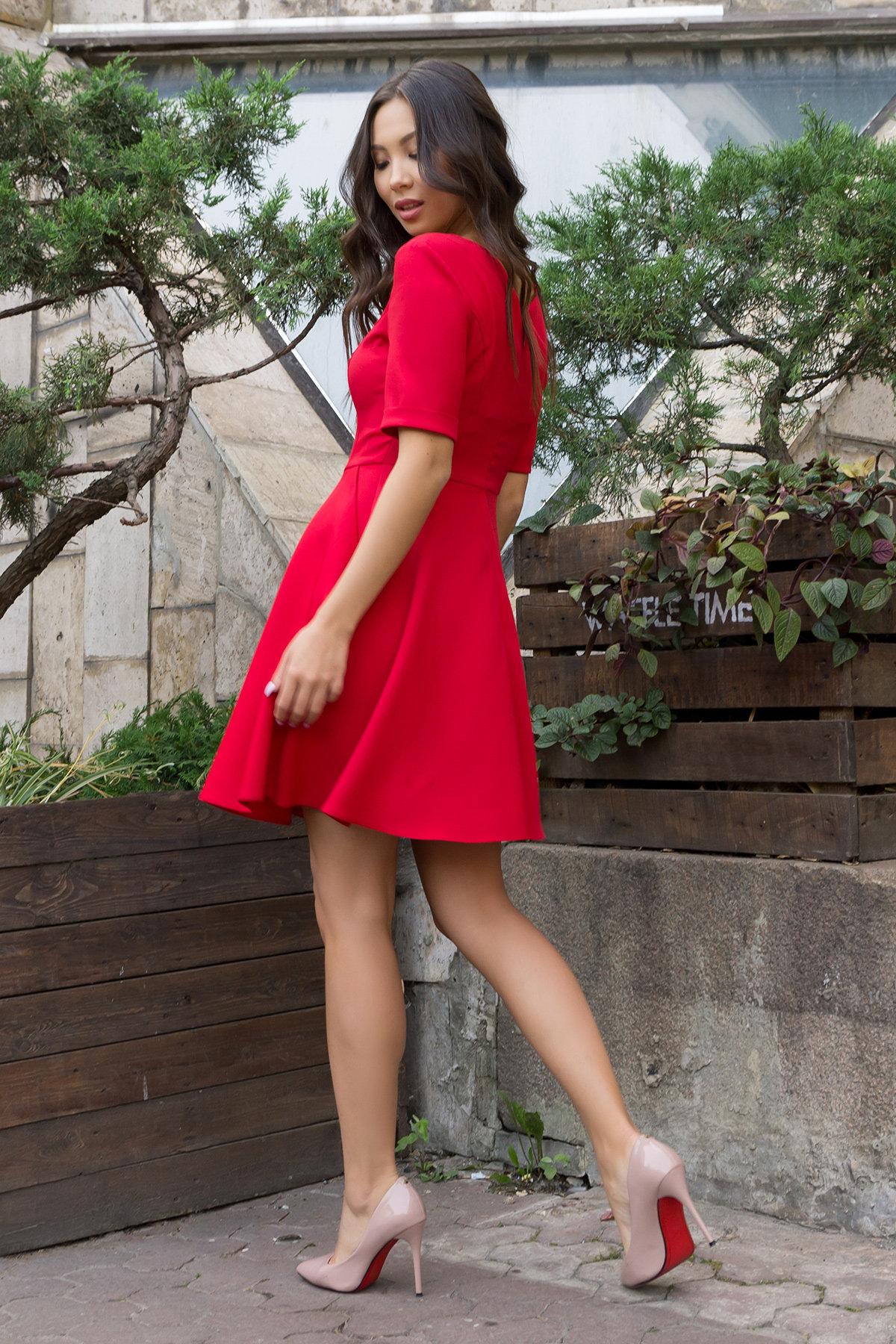 Стильное платья на пуговицах Фернанда 7848 АРТ. 43751 Цвет: Красный - фото 2, интернет магазин tm-modus.ru
